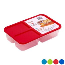 48 Units of Food Storage Container 3 Compartment Clear Bottom - Food Storage Containers