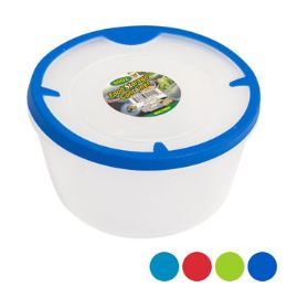 48 Units of Food Storage Container Round With Rubber Edge On Lid - Food Storage Containers