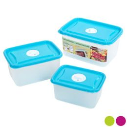 48 Units of Food Storage Container 6 Piece Vented Rectangle Assorted Color - Food Storage Containers