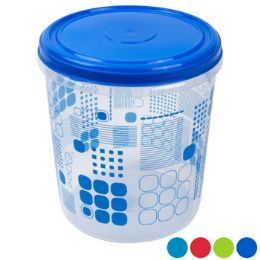 48 Units of Food Storage Container Printed Ruby Geometric Design - Food Storage Containers