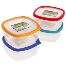 48 Units of Food Storage Container With Rubber Edge On lid - Food Storage Containers