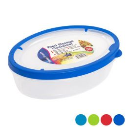 48 Units of Food Storage Container Oval Rubber Rim On Lid - Food Storage Containers