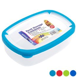 48 Units of Food Storage Container Rectangle Rubber Rim On Lid - Food Storage Containers