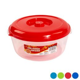 48 Units of Food Storage Container Round 4 Color Lids - Food Storage Containers