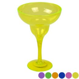 48 Units of Margarita Glass Plastic 6 Colors - Disposable Cups
