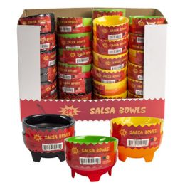 48 Units of Salsa Bowl 2 Pack Plastic - Plastic Bowls and Plates