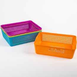 48 Units of Storage Basket Rectangular Slotted - Storage & Organization