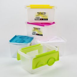48 Units of Storage Canister With Lid Plastic - Storage & Organization