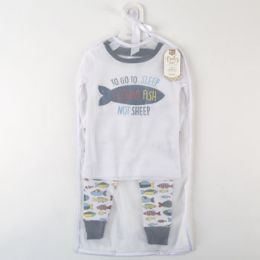 60 Units of Pajama Set 2 Piece Gone Fishin - Baby Apparel