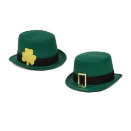 24 Units of Hat Felt Tophat Saint Patrick - St. Patricks