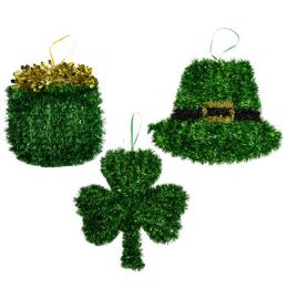 36 Units of Saint Patrick Tinsel Hanging Decor - St. Patricks