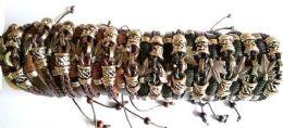 60 Units of Marijuana Faux Leather Bracelet - Bracelets