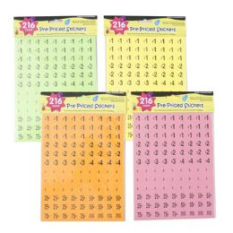 120 Units of Preprice Stickers Neon Colors - Labels ,Cards and Index Cards