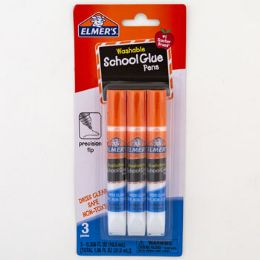48 Units of School Glue Pens Elmers Washable Precision Tip - Glue Office and School