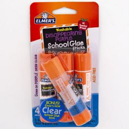 16 Units of School Glue Sticks Elmers Disappearing Purple - Glue Office and School