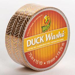 24 Units of Tape Crafting Duck Washi Metallic Herringbone - Tape & Tape Dispensers