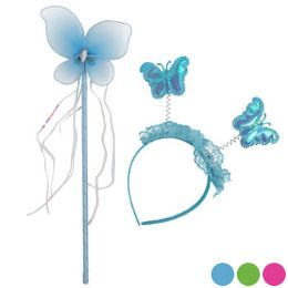 36 Units of Headband And Wand Set Butterfly - Girls Toys