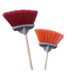 24 Units of MINI ABANICO BROOM W WOOD HANDLE - Cleaning Products