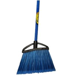12 Units of ANGLE BROOM FIORI W WOOD HANDLE YELLOW - Cleaning Products