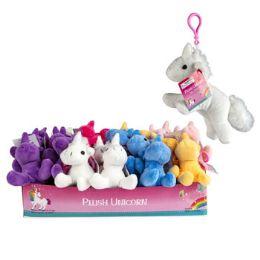 36 Units of Plush Unicorn With Clip - Key Chains