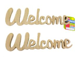 "96 Units of Wooden Words ""welcome"" - Home Decor"