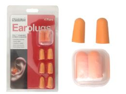 "144 Units of Earplugs 4 Pairs 1"" L With Case - Earplugs"