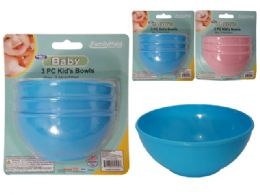 96 Units of 3pc Baby Bowls - Baby Accessories