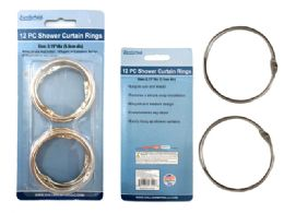 96 Units of 12 pc Shower Curtain Rings - Shower Accessories