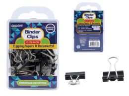 96 Units of Binder Clips 20pc. 19mm Black - Office Supplies