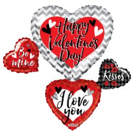 15 Units of Happy Valentines Day Heart Shaped Balloon - Valentine Decorations
