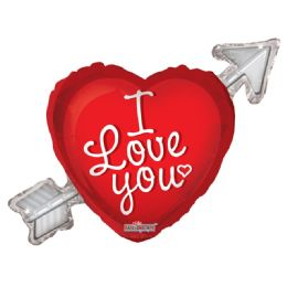 15 Units of I Love You Heart Shaped Balloon - Valentine Decorations