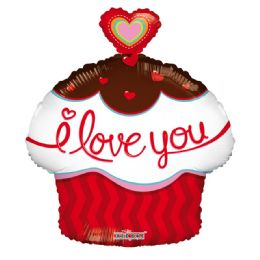 50 Units of I Love You Valentines Day Cupcake Balloon - Valentine Decorations