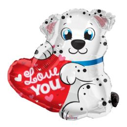 100 Units of I Love You Valentines Day Dalmatian Balloon - Valentine Decorations