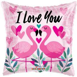 100 Units of I Love You Valentines Day Flamingo Balloon - Valentine Decorations
