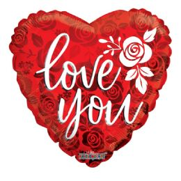 25 Units of Love You Valentines Balloon Heart Shape - Valentine Decorations
