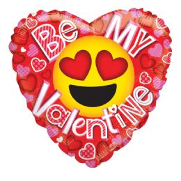 25 Units of Be My Valentine Balloon Emoji Heart Shape - Valentine Decorations