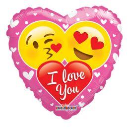 25 Units of I Love You Valentine Balloon Emoji Heart Shape - Valentine Decorations