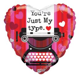 25 Units of Your Just My Type Valentine Balloon Heart Shape - Valentine Decorations