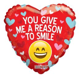 25 Units of Your Give My Reason To Smile Valentine Balloon Heart Shape - Valentine Decorations
