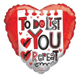 25 Units of To Do List You Repeat Valentine Balloon Heart Shape - Valentine Decorations
