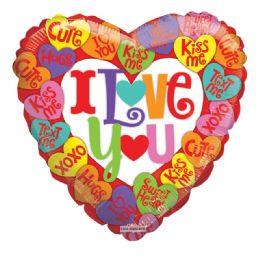 25 Units of I Love You Valentine Balloon Heart Shape - Valentine Decorations