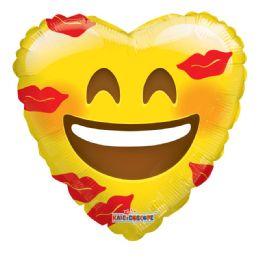 25 Units of Emoji Love Valentine Balloon Heart Shape - Valentine Decorations