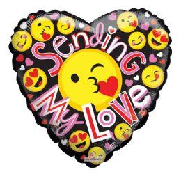 25 Units of Sending My Love Emoji Valentine Balloon Heart Shape - Valentine Decorations