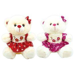 6 Units of Valentine Plush Teddy Bear With Skirt - Valentines
