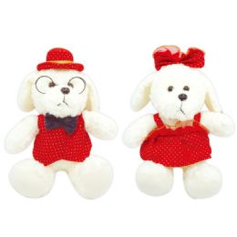 12 Units of Valentine Plush Teddy Bear With Clothes - Valentines