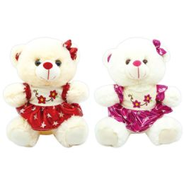 12 Units of Valentine Plush Teddy Bear With Heart Assorted - Valentines