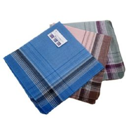 48 Units of 3 Pack Men's Plaid Handkerchiefs - Handkerchief