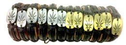 60 Units of Marijuana Leaf style Faux Leather bracelet - Bracelets