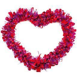 48 Units of Heart Tinsel Decoration Valentine - Valentine Decorations