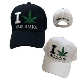 36 Units of I [leaf] Marijuana Ball Cap - Baseball Caps & Snap Backs